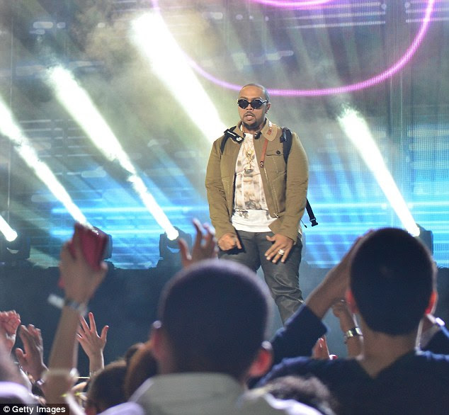 Music producer: Timbaland also performed at the New Year's Eve bash