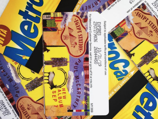 Special Edition Paul McCartney MetroCards Are Available At Grand Central