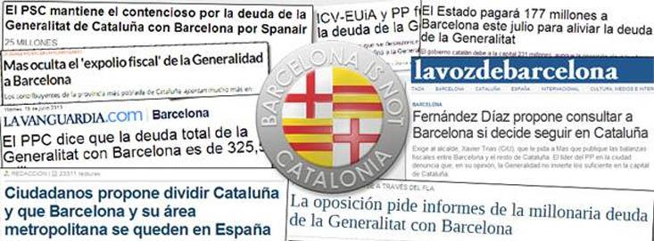 Recortes de prensa que dieron lugar al nacimiento de la Plataforma por la Autonomía de Barcelona