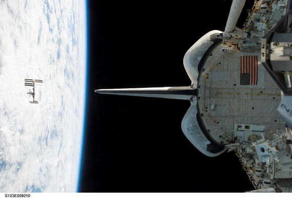 Shuttle Separates from the Station.  Image Credit:  NASA