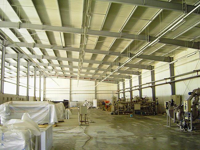 Gable Frame Desain Bangunan Gudang Industri Pabrik Struktur Baja Tahan Lama