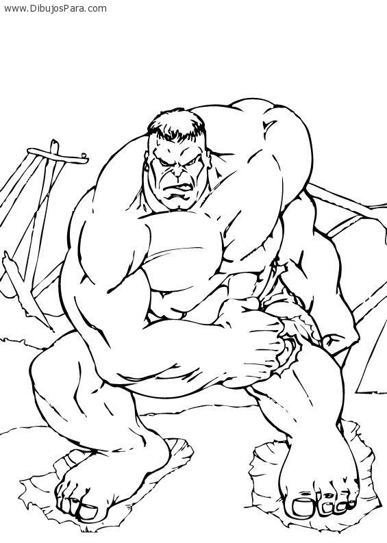 Dibujo De Hulk Musculoso Dibujos Para Colorear
