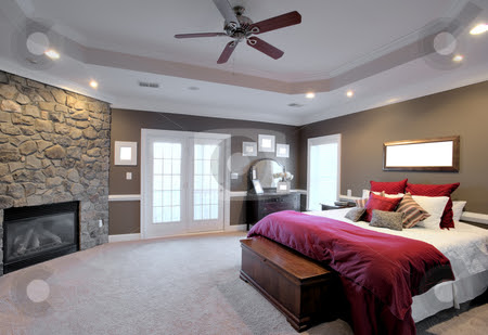 Large Bedroom Interior stock photo, Interior of a large