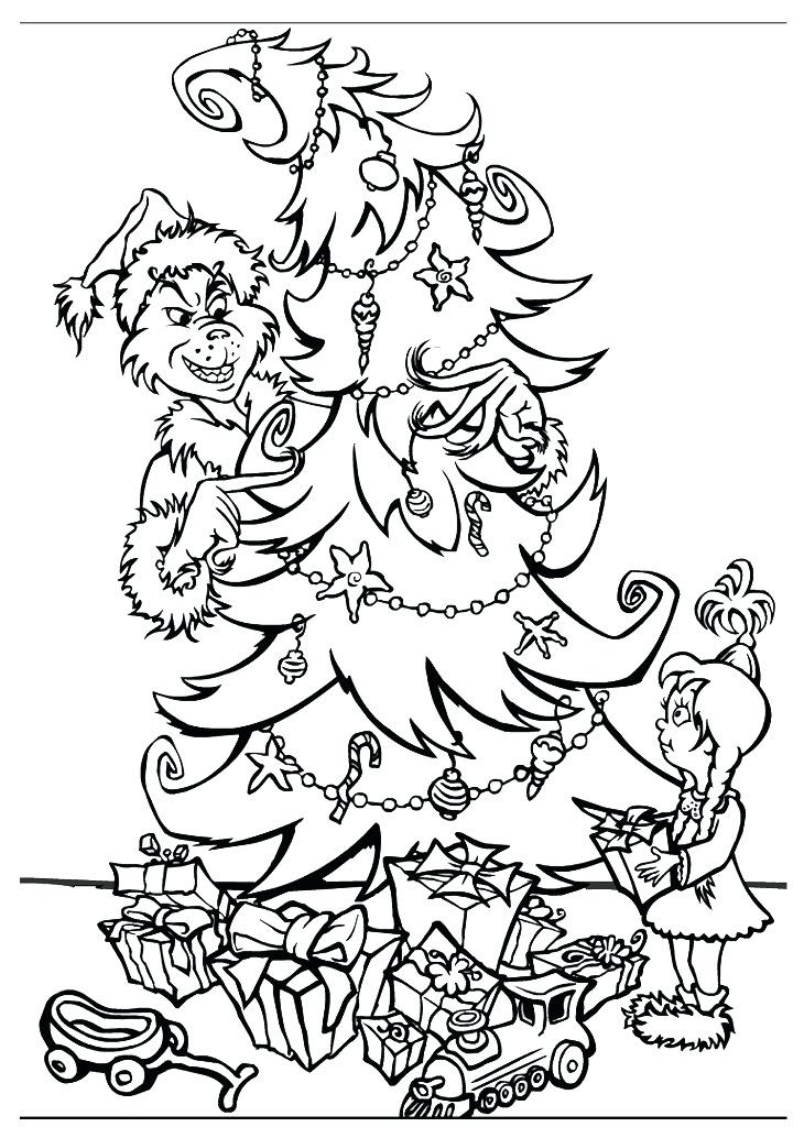 The Grinch Who Stole Christmas Coloring Pages at ...