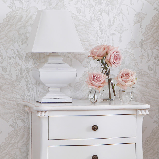 Squat Shabby Chic Lamp - traditional - table lamps - other metro