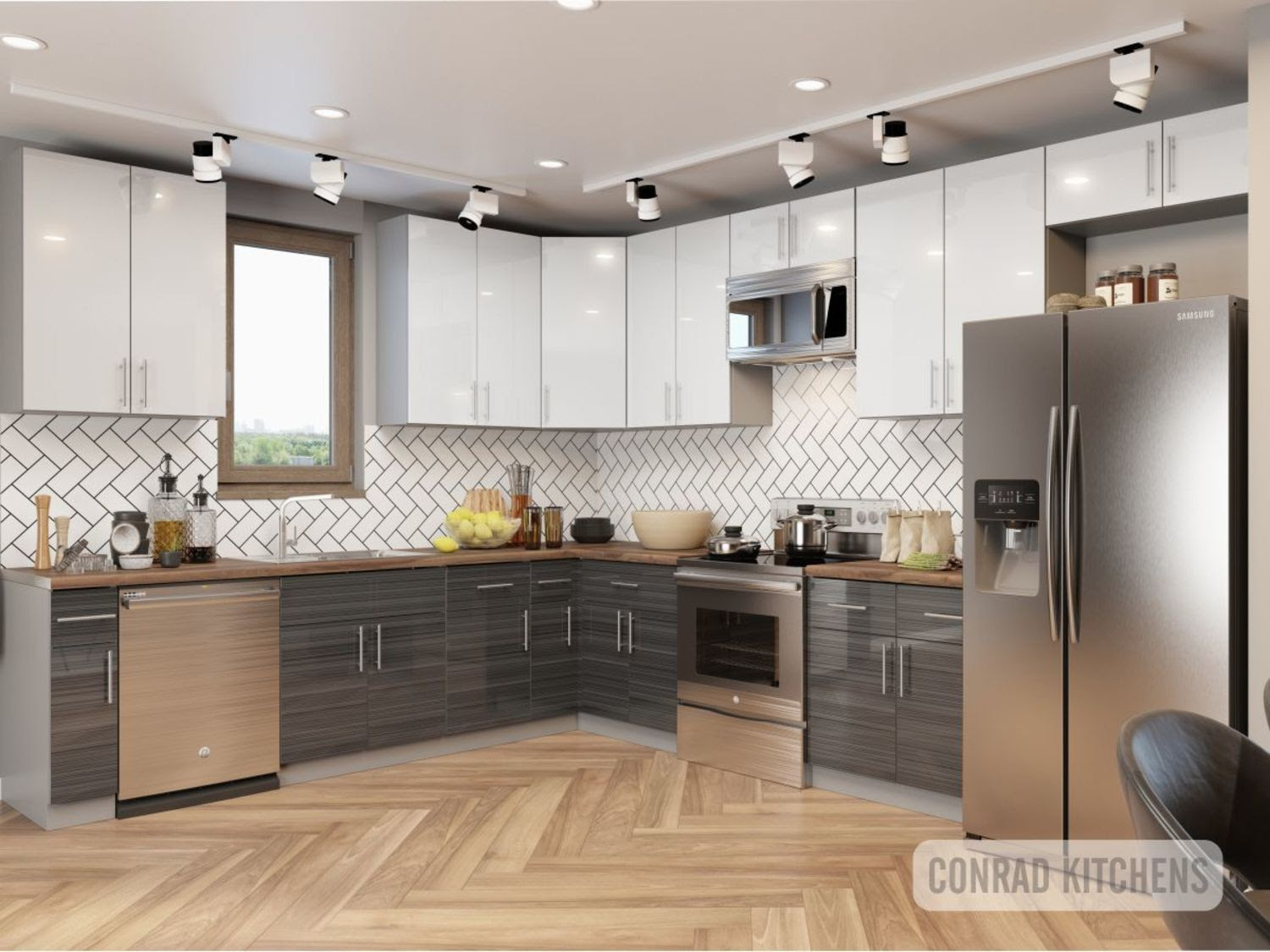 Grey Zebrano White Acrylic Kitchen Choose Kitchen Cabinets Online At Affordable Price