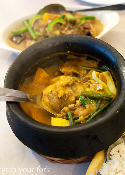 kare-kare oxtail curry at lamesa phillipine cuisine haymarket chinatown