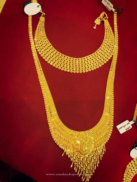 Gold Bridal Jewellery   Choker & Long Necklace ~ South
