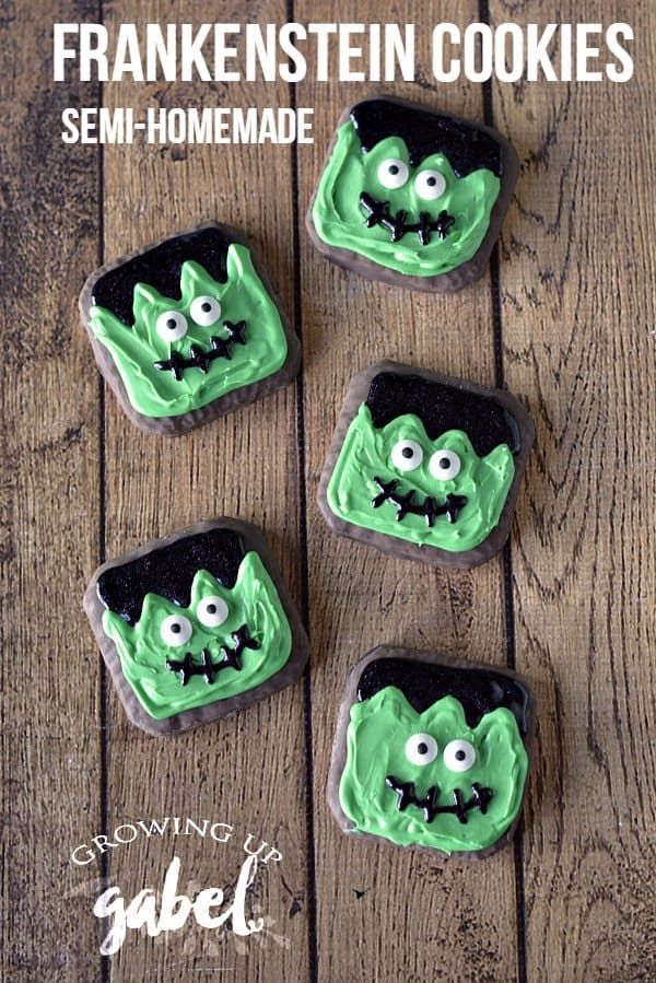 Easy Frankenstein Cookies by Growing Up Gabel