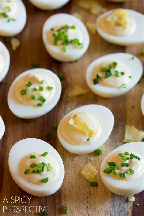 sour cream  onion dip deviled egg recipe