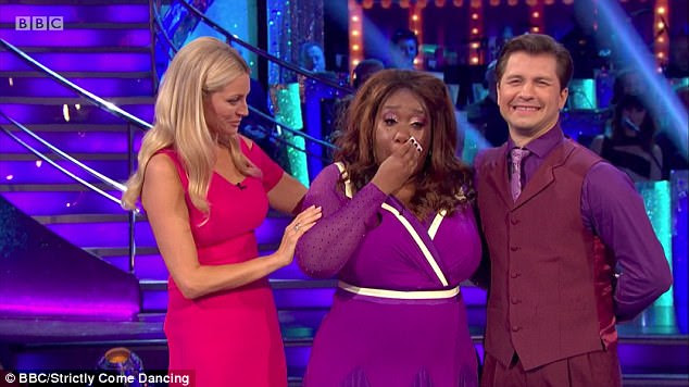 Chizzy Akudolu, 43, and her partner Pasha Kovalev became the first pair to leave Strictly Come Dancing on Sunday night