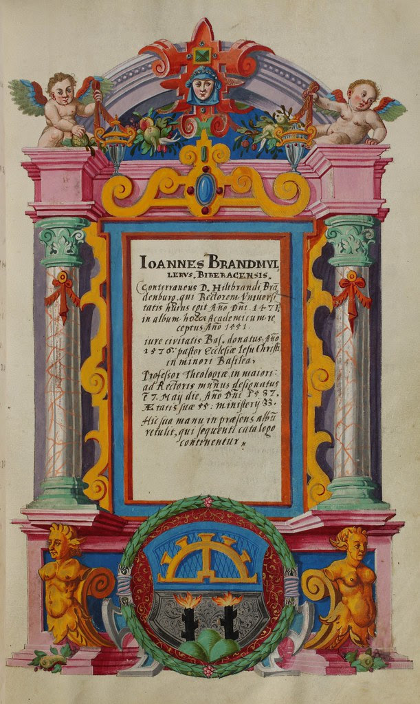 Basel, Universitätsbibliothek, AN II 4, p. 44r – Matriculation Register of the Rectorate of the University of Basel, Volume 2 (1586-1653)