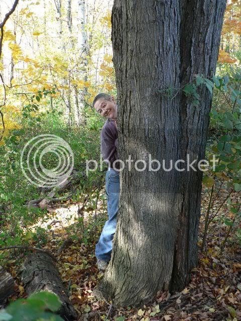 Annie's Behind a tree