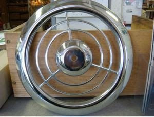 Big find: NOS chrome Emerson Pryne exhaust fan grille covers