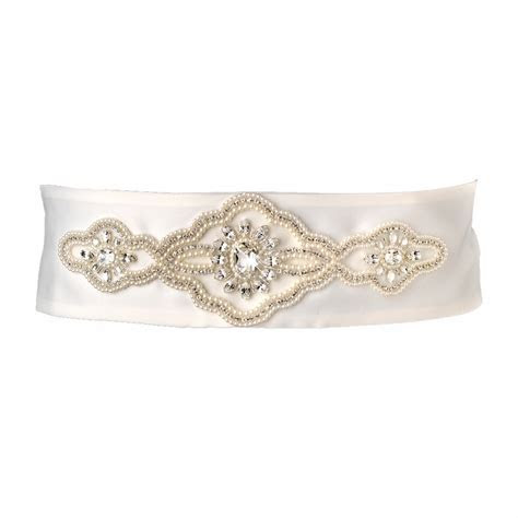 Wholesale Supplier of Pearl & Rhinestone Bridal Belts