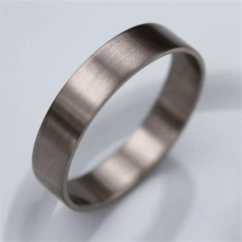 Mens Wedding Band   Simple Wedding Band, White Gold Ring