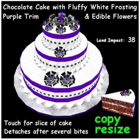 Second Life Marketplace   Chocolate Cake with White