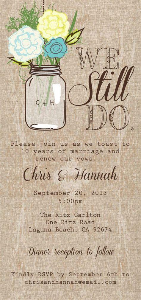 Mason Jar Printable Invitation, Rustic Wedding Invitation