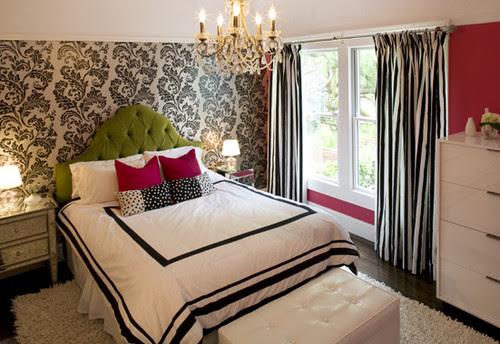 Teenage girls bedroom contemporary bedroom
