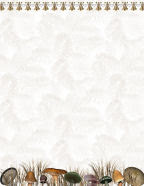 digital free autumn or fall stationery with mushrooms and dried grass for september