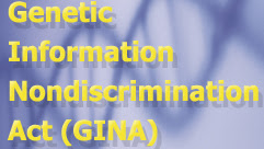 Genetic Information Nondiscrimination Act (GINA) with DNA in background