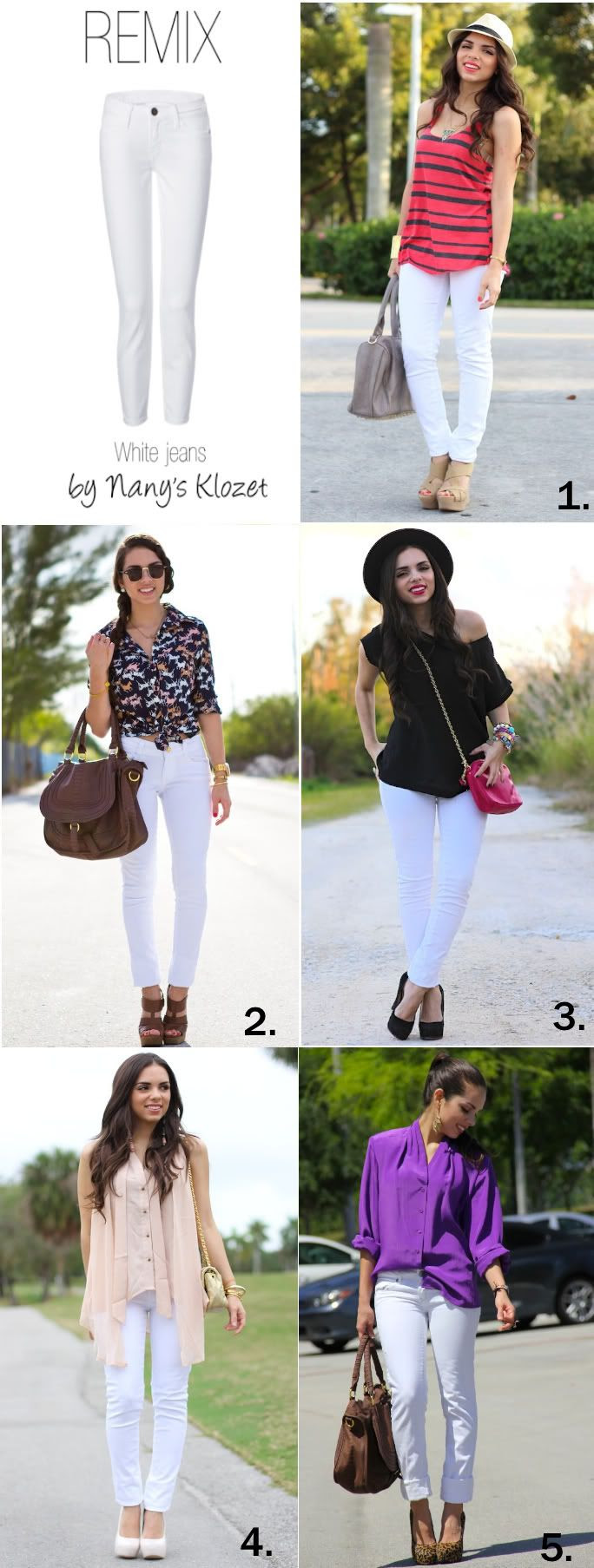 How to wear... White jeans