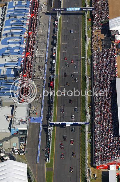 Salida GP Australia 2011 desde el aire