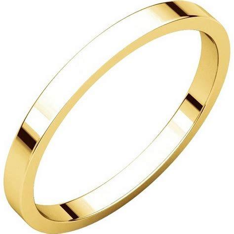 N012502E 18K Yellow Gold 2mm Flat Wedding Ring