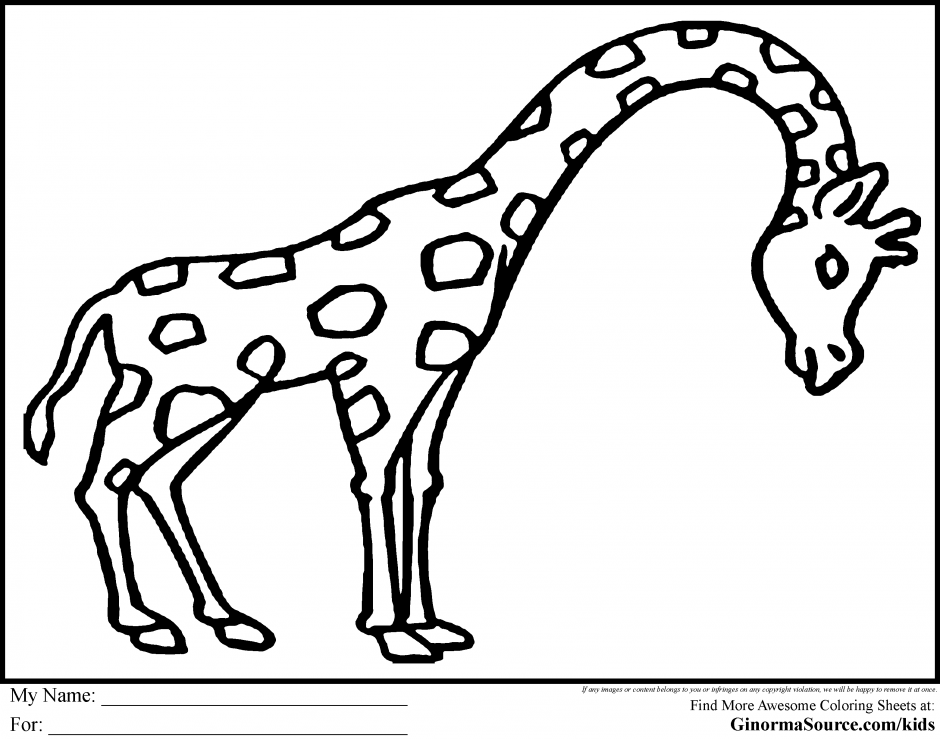 African Animals Coloring Pages - Coloring Home