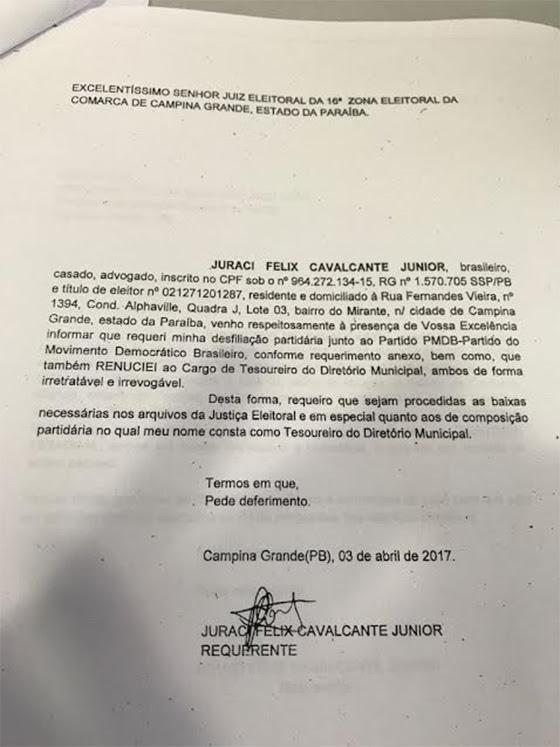 Desfiliação aliados de Vene Juraci Félix