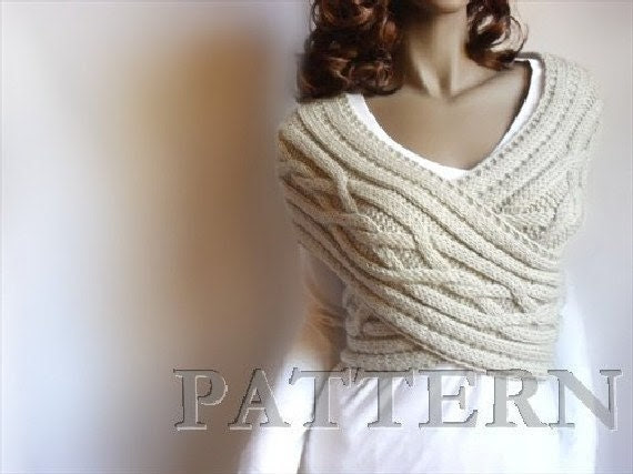 Knitting Pattern Cable knit Sweater Instant download knitting pattern Vest pattern Cowl Neckwarmer Pattern - PillandPattern
