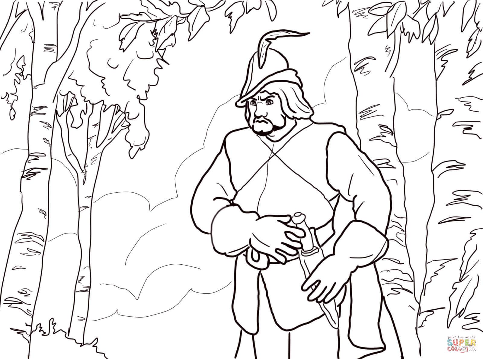 Der Jäger der Königin im Wald