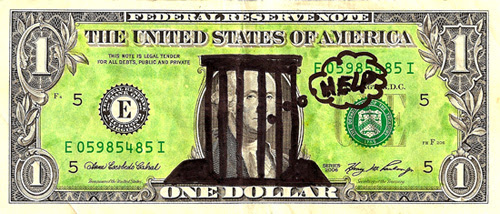 Image result for dollars in jail