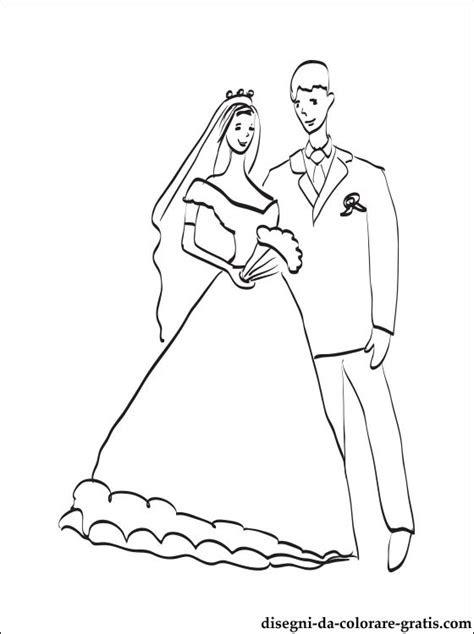 disegno coppia  sposi da stampare disegni da colorare