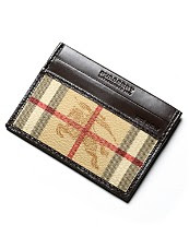 Burberry Camel Check Card Case with ID