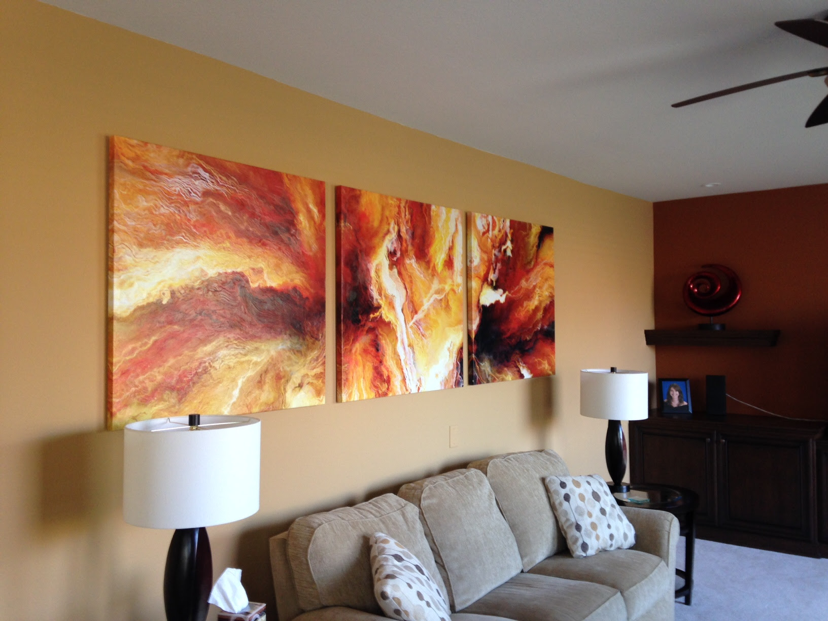3-panel-large-abstract-painting-art-canvas-print-triptych ...