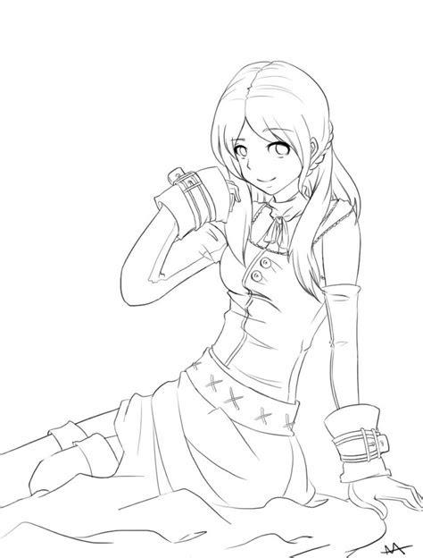 anime girl outline  megamooni  deviantart