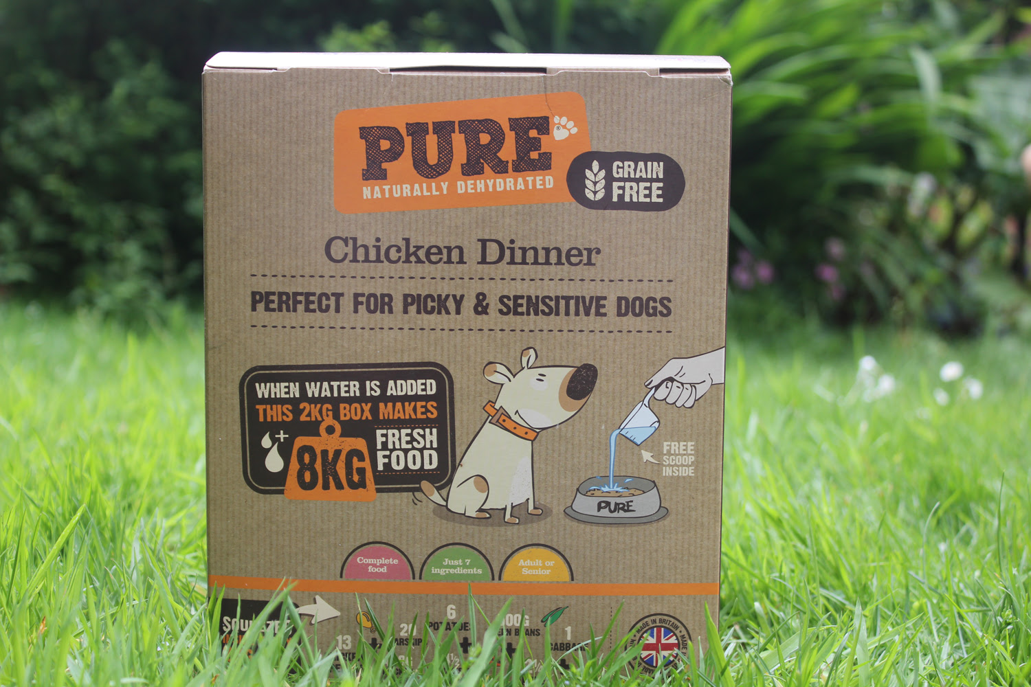 Pure Dehydrated Chicken Dinner Dog Food - Review