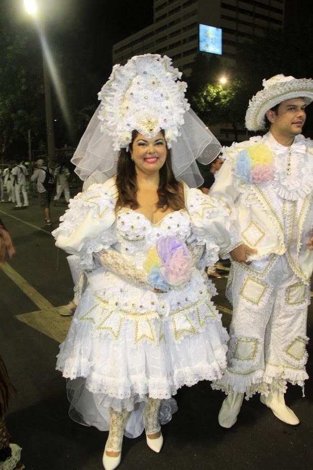 Fabiana Karla na Sapucaí, RJ (Foto: Isac Luz / EGO)