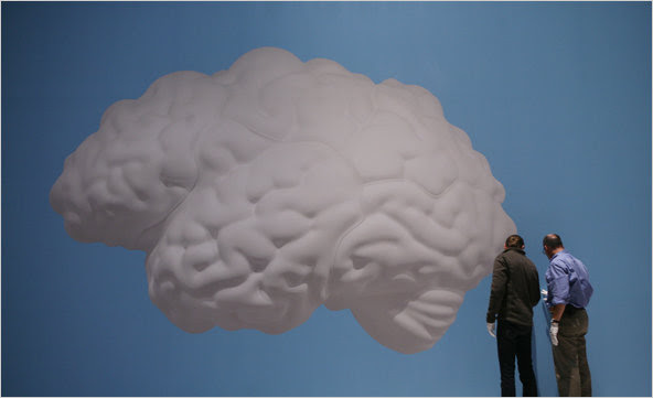"""Brain Cloud (2010)"" on display at the Metropolitan Museum of Art in New York as part of a show by John Baldessari,"