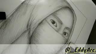 All Clip Of Menggambar Wajah Wanita Berhijab Bhclipcom