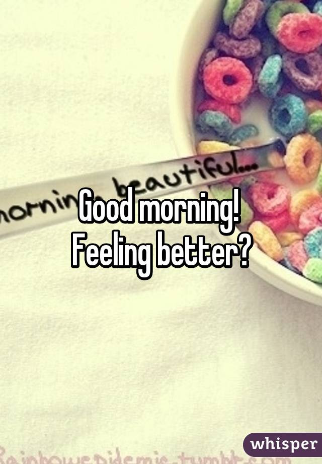 Good Morning Men F43mass