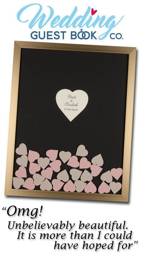 The Drop in Hearts Wedding Guest Book is a truly unique