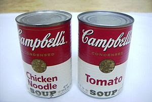 Some instant soup come in tins (or cans). They...
