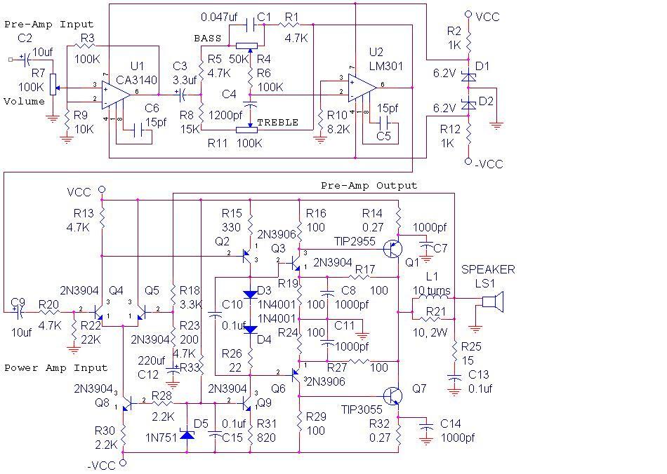 La4508 Bridge Amplifier Circuit Diagram - Circuit Diagram ...