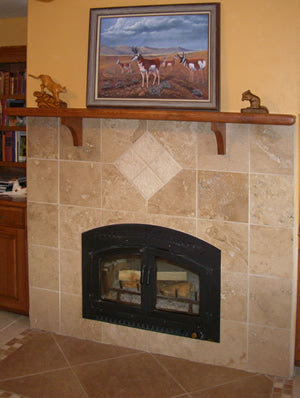 Celtic Moorish Star Accent for Fireplace