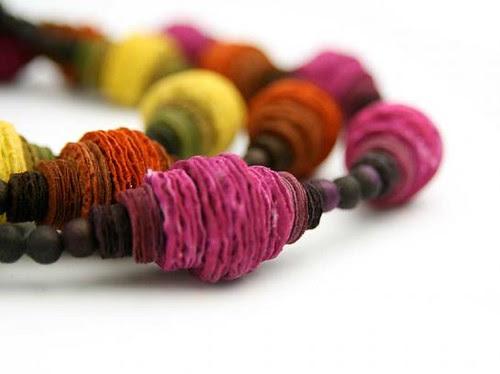 Paper cones necklace