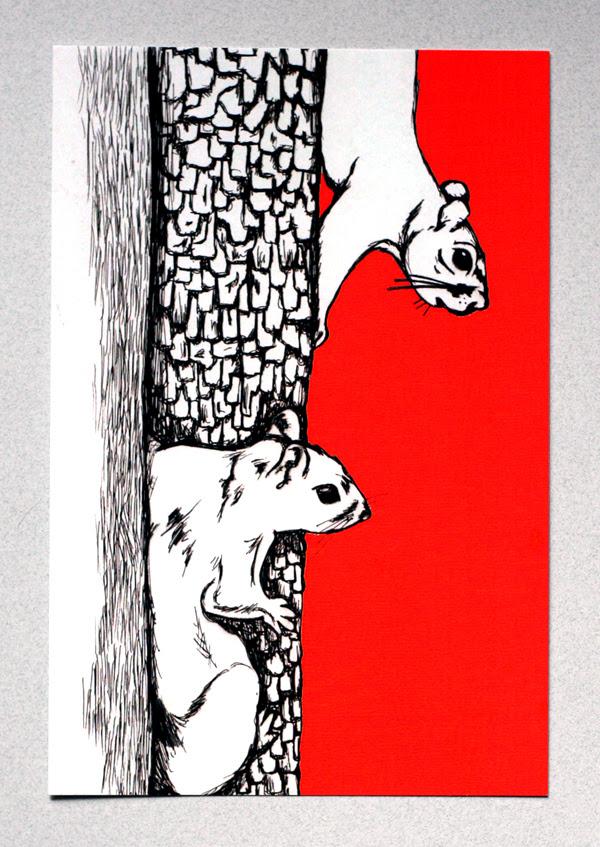Squirrel postcard #3