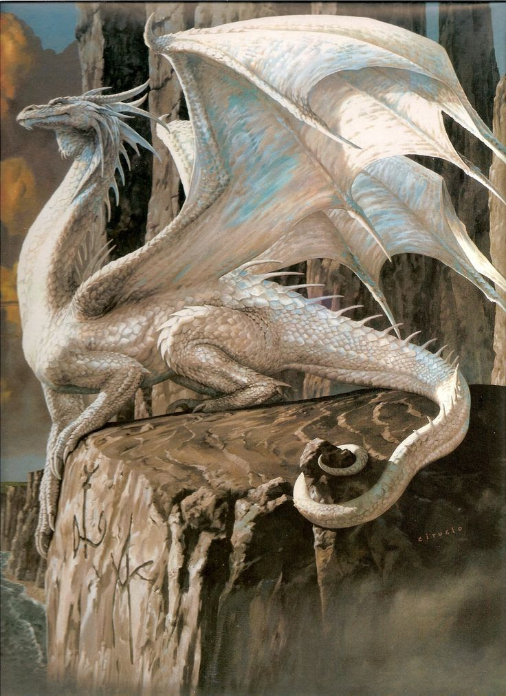 Dragon Art Gallery. [Was it Vereal [sp?] who was a white dragon?]