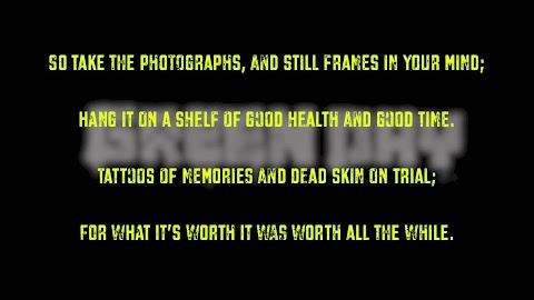 Time Of Your Life Green Day Lyrics Karaoke